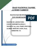 informe N° 3  TERMODINAMICA DE LIXIVIACION hidro