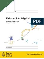 Educación Digital. Anexo Curricular