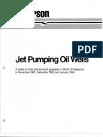 Jet Pumping Oil Wells, Guiberson, WO, 1983 & 1984, 18 Pgs