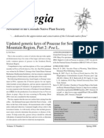 Spring 2008 Aquilegia Newsletter, Colorado Native Plant Society