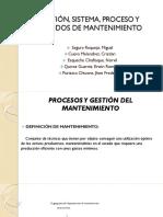 Gestión,Sistema,Proceso y Métodos de Mantenimiento