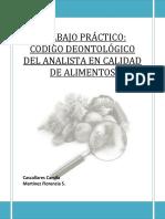 Código Deontologico Analista en Calidad de Alimentos