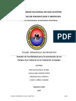 Estudio de Factibilidad Para La Instalación de Un Parque Eco-Cultural en La Ciudad de Arequipa(Taller Desarrollo de Proyectos-UNSA)