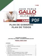 Programa Gobierno Juan Pablo Gallo