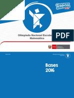 7 04jul Bases XIII Olimpiada Nacional Escolar Matemática 2016