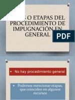 Fases o Etapas Del Procedimiento de Impugnación En