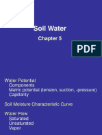 Soil water influence