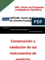 5. Construcción y Validación de Los Instrumentos de Medición