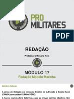 Redação modelo Marinha