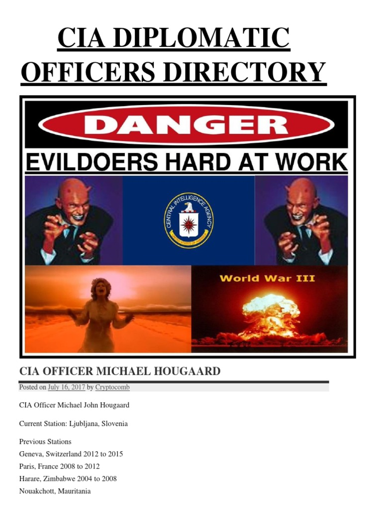 Cia Diplomatic Officers Directorypdf Espionage Central