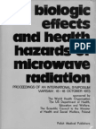 Sadcikova Clinical manifestations of reactions to microwave irradiation in various occupational groups 1973