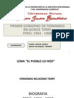 Primer Gobierno de Belaunde Terry