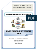 PlanAnual de Aula de Innovacion Educativa 2017
