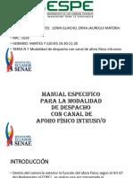 Teledespacho, Aforo Fisico Diapositvas