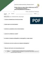 Examen Extraordinario de Español de 2 Grado