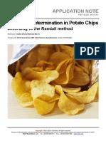 VELP Application Note Potato Chips F&F-S-001-2015
