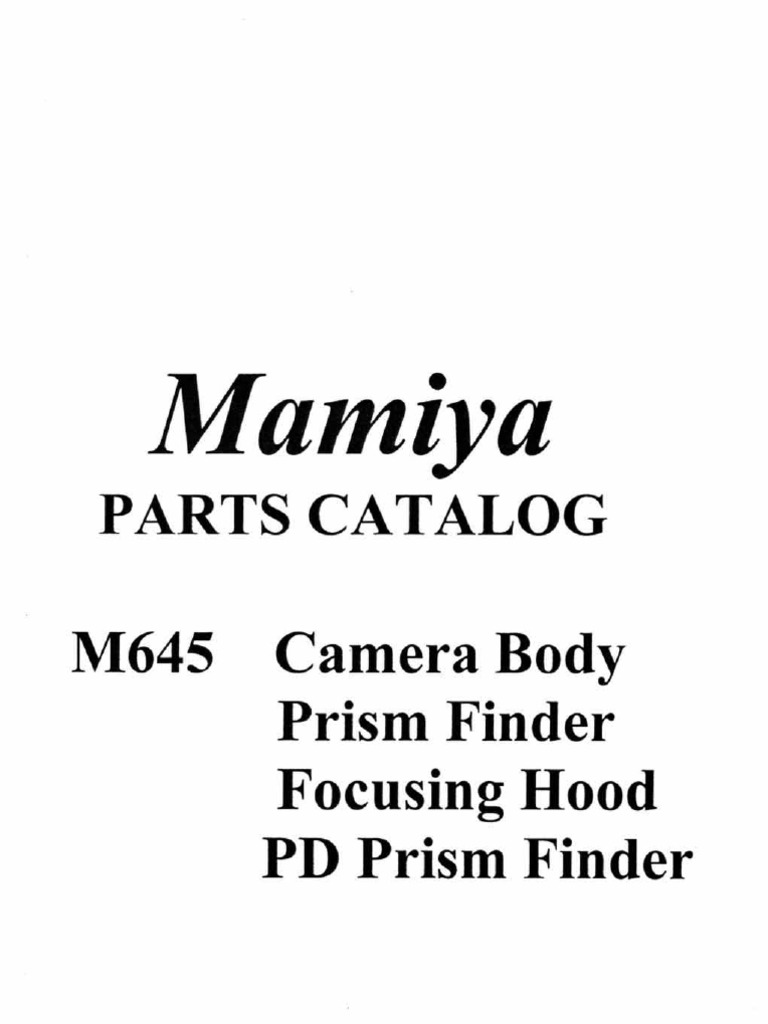 19302732-Mamiya-M645-Parts