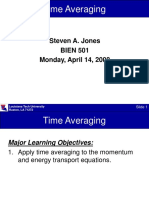 Lecture 21 on Time Averaging