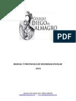 Manual y Protocolo de Seguridad Escolar 2016