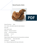 Physical Properties of Barite