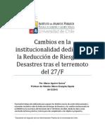 Cambios en La Institucionalidad Dedicada a La Reducción de Riesgos de Desastres Tras El Terremoto Del 27F (1)