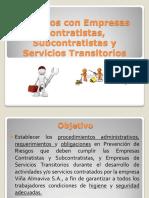 Trabajos Con Empresas Contratistas, Subcontratistas y Servicios