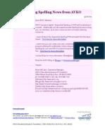 AVKO Newsletter 2009-04-20