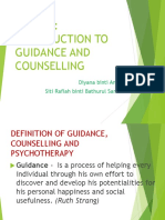 Topic 1 Introduction to Guidance and Counselling