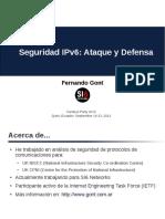 Seguridad en IPV6 Ataque y Defensa