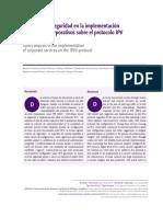 Análisis de La Seguridad en La Implementación de Servicios Corporativos Sobre El Protocolo IPV6