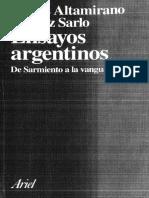 Altamirano, Carlos; Sarlo, Beatriz - Ensayos Argentinos (1)