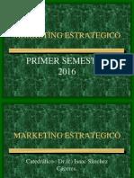 Mark. Estrategico... Planeamiento Estratégico Marketing -2016