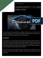 Conocer La Diferencia Entre 32 y 64 Bits