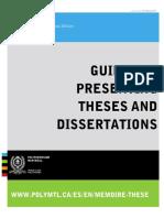 Guide Presentation Memoires Theses En