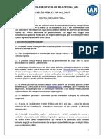 Edital de Abertura Pref Pirapetinga 2017 1 Ratificado PDF 105