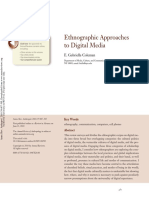 Ethnographic Approaches to Digital Media