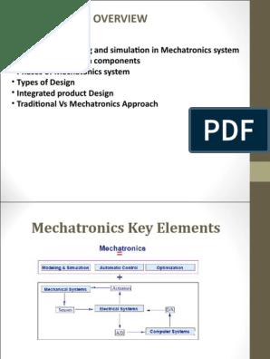 Key Elements Of Mechatronics Ppt Simulation System