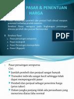 Struktur Pasar & Penentuan Harga