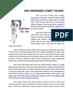 Tokoh Seni & Budaya - Chairil Anwar