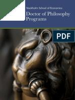 SSE-Doctor of Philosophy Programs