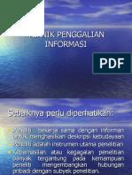 Teknik Penggalian Informasi