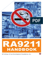 83123003 Ra 9211 Handbook Tobacco Regulation Act 2003