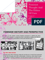 Feminist Thought and the Ethics of Care (1)