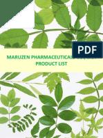 Maruzen Product List (Cosmetic) 121012