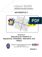 Module 6 - Searching for Patterns, Sequences and Series