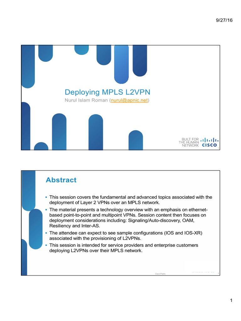 04 Deploying Mpls l2vpns | Multiprotocol Label Switching