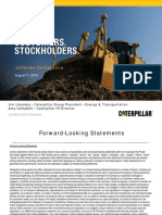 Caterpillar Analyst Presentation