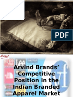 23832248 Arvind Brands Competitive Position