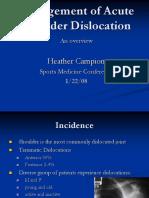 Campion-Management of Acute Shoulder Dislocation.ppt
