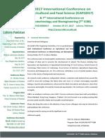 International Conference Icafs Icbb2017 Brochure Pakistan